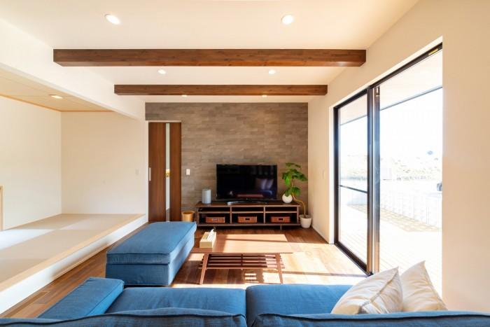 テレビコーナーも凝ってます。|郡山市 新築住宅 大原工務店のブログ