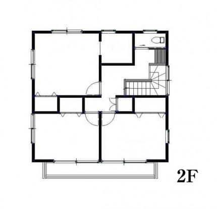 2F 見取り図|郡山市 デザイン住宅 大原工務店の商品ラインナップ