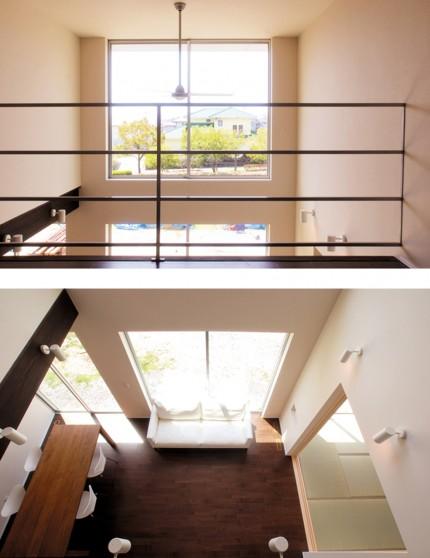シンプルデザインを追求した注文住宅「Jupiter Cube」-吹抜け-|郡山市 注文住宅 大原工務店の施工例