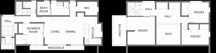 シンプルデザインJupiter Cubeの間取り図|郡山市 注文住宅 大原工務店の施工例
