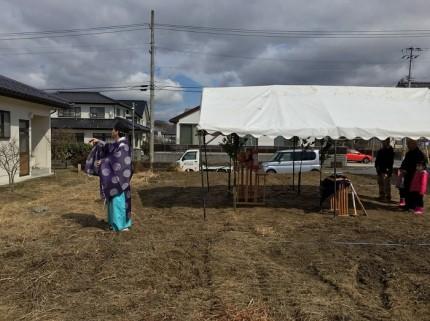 四方祓い(しほうはらい)をやってもらいます。田村郡三春町|郡山市 新築住宅 大原工務店のブログ