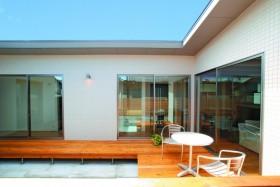 郡山市「平屋」モデルハウス-中庭-|郡山市 注文住宅 大原工務店のブログ