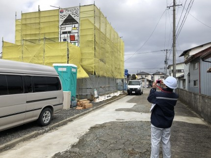 住宅センターさんによる検査です 郡山市小原田 | 郡山市 新築住宅 大原工務店のブログ