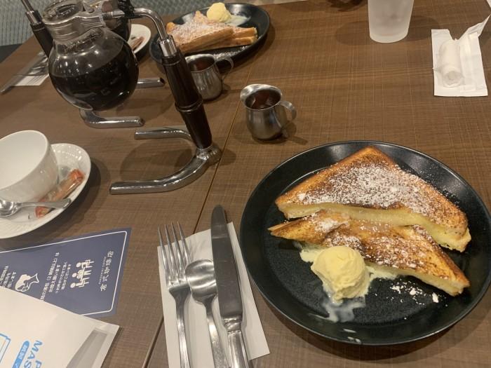 カフェで食べたフレンチトーストです。田村郡三春町| 郡山市 新築住宅 大原工務店のブログ