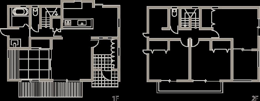 インナーバルコニーのある寄棟の家-間取り-|郡山市 注文住宅 大原工務店の施工例