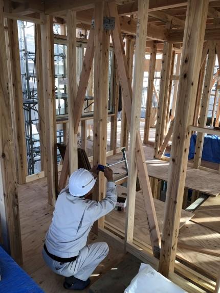 上棟検査を受けています 郡山市富久山町 |郡山市 新築住宅 大原工務店のブログ