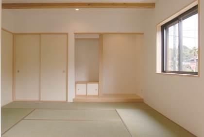 空間の奥行にこだわった和モダンの切妻の家-和室-|郡山市 注文住宅 大原工務店の施工例