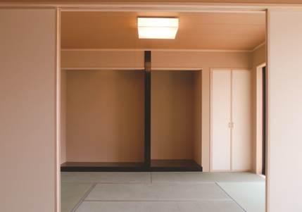 ジャパニーズモダン 柔らかな光の差し込む上品な戸建-和室-|郡山市 注文住宅 大原工務店の施工例