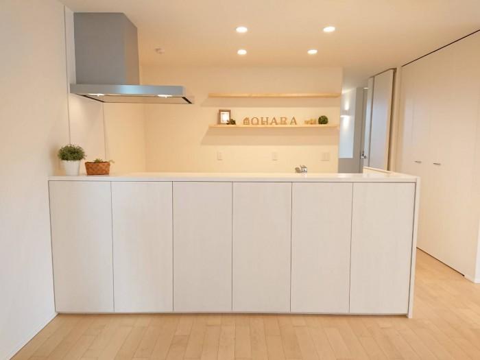 今回見学会を行ったお客様邸のキッチンです。| 郡山市 新築住宅 大原工務店のブログ