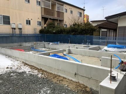 基礎工事が終わりました 郡山市亀田 | 郡山市 新築住宅 大原工務店のブログ