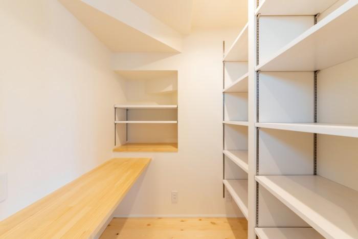 K様邸の家事室です。  郡山市 新築住宅 大原工務店のブログ
