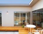 光と風をとりこみ、外部の視線を遮る、中庭のある平屋 郡山市 注文住宅 大原工務店 施工例