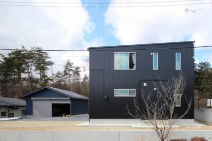 横から見たS様邸です。須賀川市|郡山市 新築住宅 大原工務店のブログ