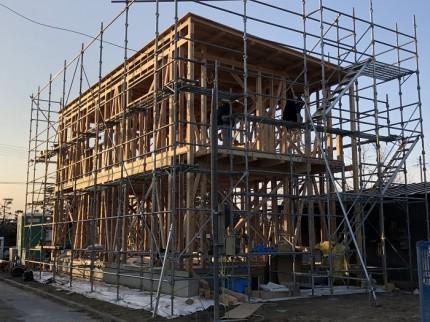 上棟しました 郡山市小原田 | 郡山市 新築住宅 大原工務店のブログ