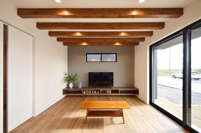モデルハウス「ライフボックス」のリビングです。| 郡山市 新築住宅 大原工務店のブログ