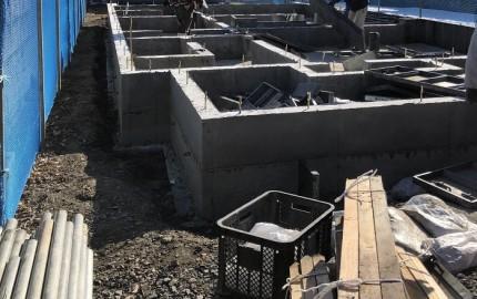 新築注文住宅K様邸 基礎の立ち上がり打設が終わりました。郡山市小原田|郡山市 新築住宅 大原工務店のブログ