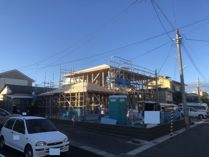 C様邸 上棟しました。|郡山市 新築住宅 大原工務店のブログ