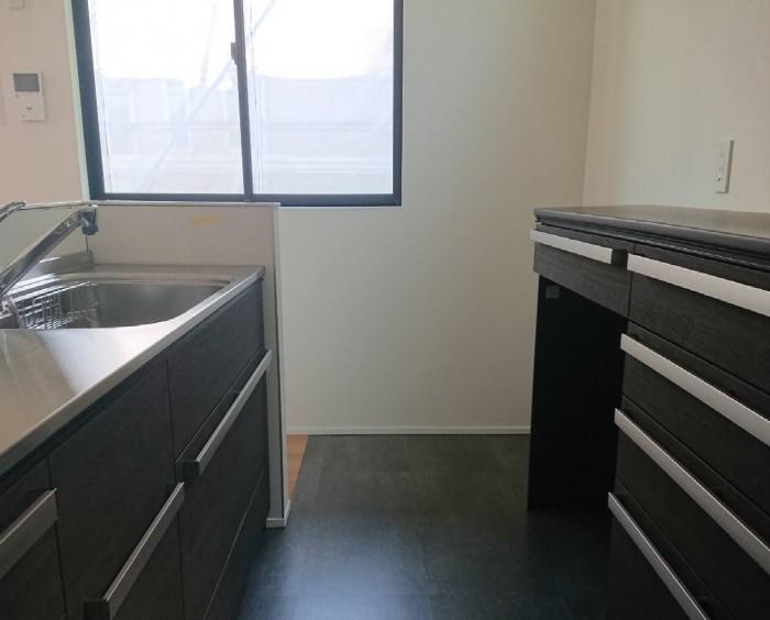 郡山市成山町N様邸の2階にあるキッチンです。| 郡山市 新築住宅 大原工務店のブログ