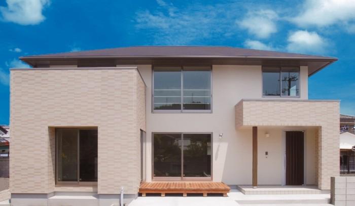 寄棟屋根の外観その①|郡山市 新築住宅 大原工務店のブログ