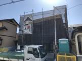 T様邸では、先日上棟して足場シートがかけられました。郡山市亀田|郡山市 新築住宅 大原工務店のブログ