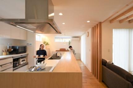 新築注文住宅O様邸 アイランド型のキッチンです。郡山市安積町|郡山市 新築住宅 大原工務店のブログ