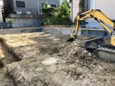 大原工務店で新築注文住宅建築中I様邸、土を掘っていきます。郡山市菜根| 郡山市 新築住宅 大原工務店のブログ