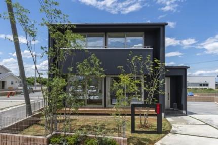キューブ型のモデルハウスです。|郡山市 新築住宅 大原工務店のブログ