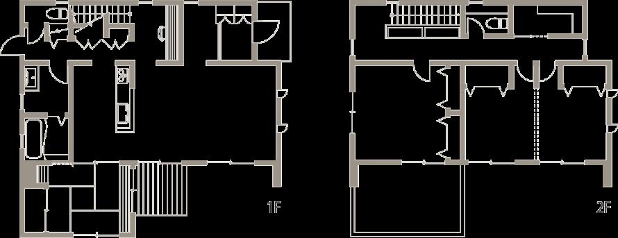 ガルバリウム鋼板を外壁に施したスタイリッシュな家-間取り-|郡山市 注文住宅 大原工務店の施工例