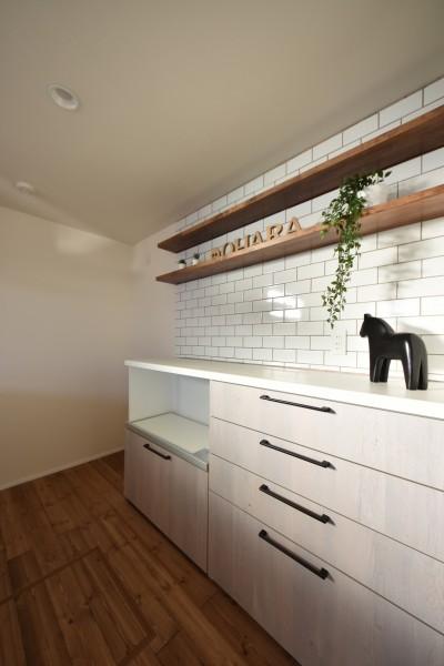 モデルハウス「ライフボックス」のキッチンです!| 郡山市 新築住宅 大原工務店のブログ