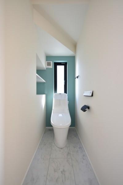 郡山市安積町モデルハウス ライフボックス1階のトイレです  郡山市 新築住宅 大原工務店のブログ