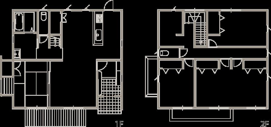 20代からの家づくり 今時のベーシックスタイル新築-間取り-|郡山市 注文住宅 大原工務店の施工例