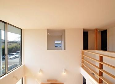 趣味のDJブースを設えた箱型の家~吹抜け~|郡山市 注文住宅 大原工務店 施工例