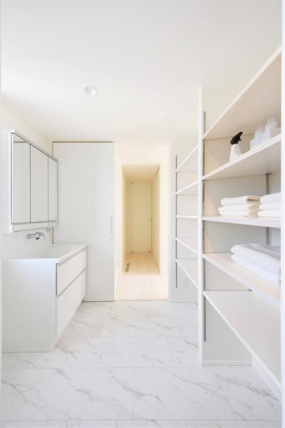 今回見学会を行ったお客様邸の洗面所です!| 郡山市 新築住宅 大原工務店のブログ