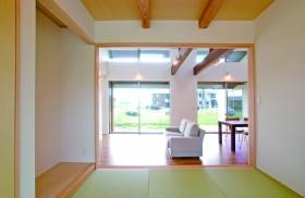 高窓から光を取り込み豊かに暮らすワンフロア空間~和室~|郡山市 注文住宅 大原工務店 施工例