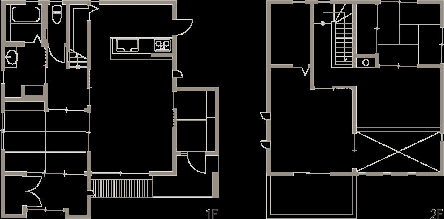 吹き抜けのあるリビング ナチュラルモダンな家-間取り図-|郡山市 注文住宅 大原工務店の施工例