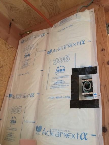 断熱材入れです。|郡山市 新築住宅 大原工務店のブログ