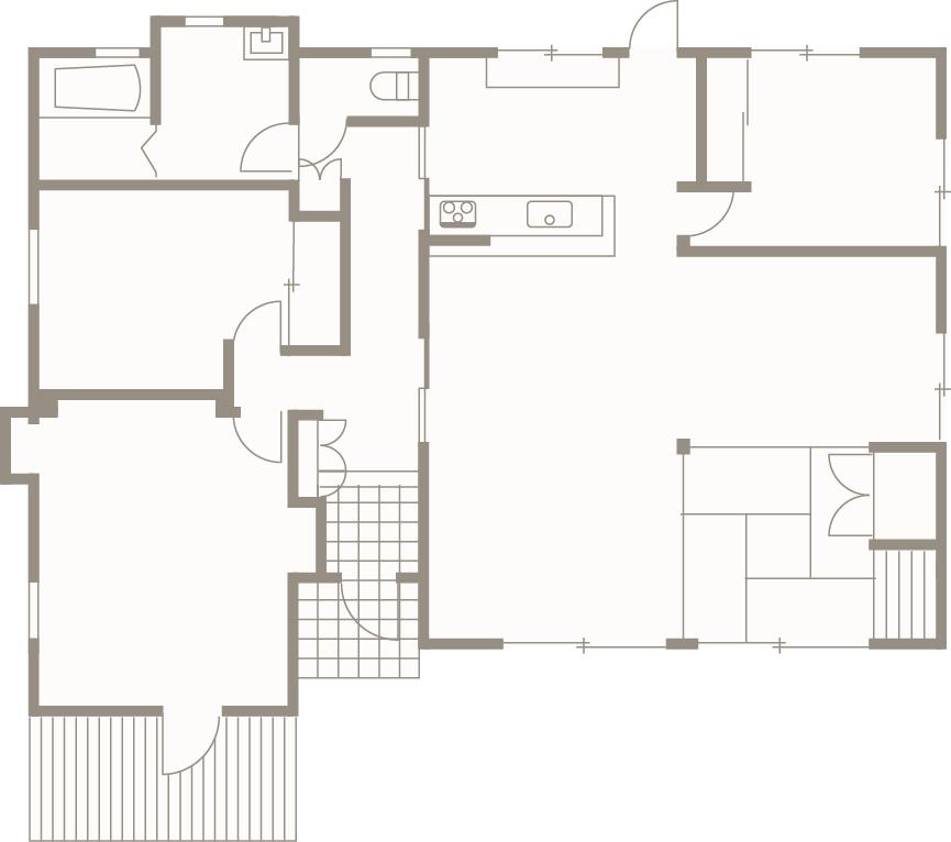 ジャパニーズモダンを追求した暮らし-間取り-|郡山市 注文住宅 大原工務店の施工例