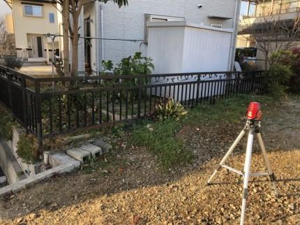 レーザーレベルで敷地の高さを測っていきます 岩瀬郡鏡石町| 郡山市 新築住宅 大原工務店のブログ