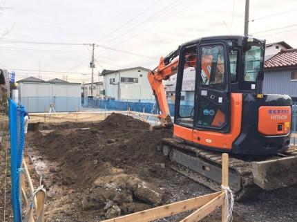 根切り工事の様子です。郡山市小原田|郡山市 新築住宅 大原工務店のブログ