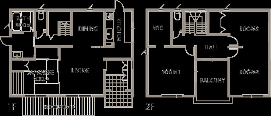 シンプル&ナチュラル キューブ型のこだわり一戸建て-間取り-|郡山市 注文住宅 大原工務店の施工例