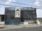 足場シートがかけられております。郡山市大槻町|郡山市 新築住宅 大原工務店のブログ