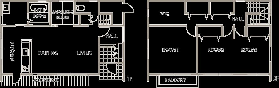 箱型自由設計 機能性とデザイン性が融合した住まい-間取り-|郡山市 注文住宅 大原工務店の施工例