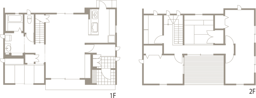 動線、収納、ライフスタイル等、機能を追求したシンプルデザイン-間取り-|郡山市 注文住宅 大原工務店の施工例