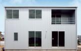 ナチュラルで暖かみのある、外観・内装を白で統一した新築-外観-|郡山市 注文住宅 大原工務店の施工例