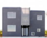 個性的な外観の吹き抜けダイニングのある住宅-外観-|郡山市 注文住宅 大原工務店の施工例
