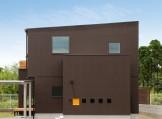 片流れ屋根が特徴的なモダンデザインの注文住宅-外観-|郡山市 注文住宅 大原工務店の施工例