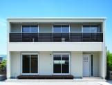 バランスとディテールを整えたシンプルで美しい住まい-外観-|郡山市 注文住宅 大原工務店の施工例