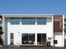 ワンランク上の暮らしを実現する高級感あふれる都市型住宅-外観-|郡山市 注文住宅 大原工務店の施工例