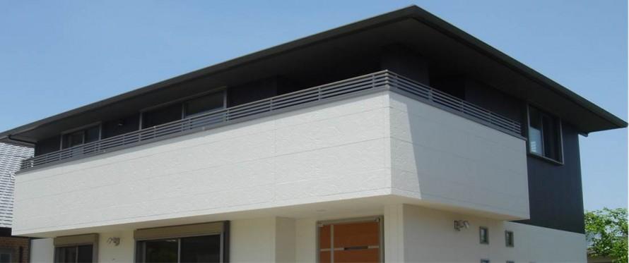 インテリア 寄棟造の屋根を見上げる外観|郡山市 デザイン住宅 大原工務店の商品ラインナップ