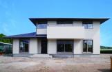 たっぷりの光を取り込む二世帯住宅-外観-|郡山市 注文住宅 大原工務店の施工例